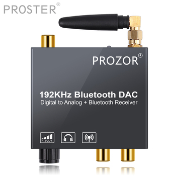PROZOR New DAC Digital To Analog Audio Converter With Bluetooth Receiver Optical Toslink Coaxial To RCA 3.5mm Jack Adapter
