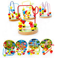 Bead Roller Coaster Wooden Montessori Educational Toy Counting Circles Toys For Children Early Learning Baby Toy