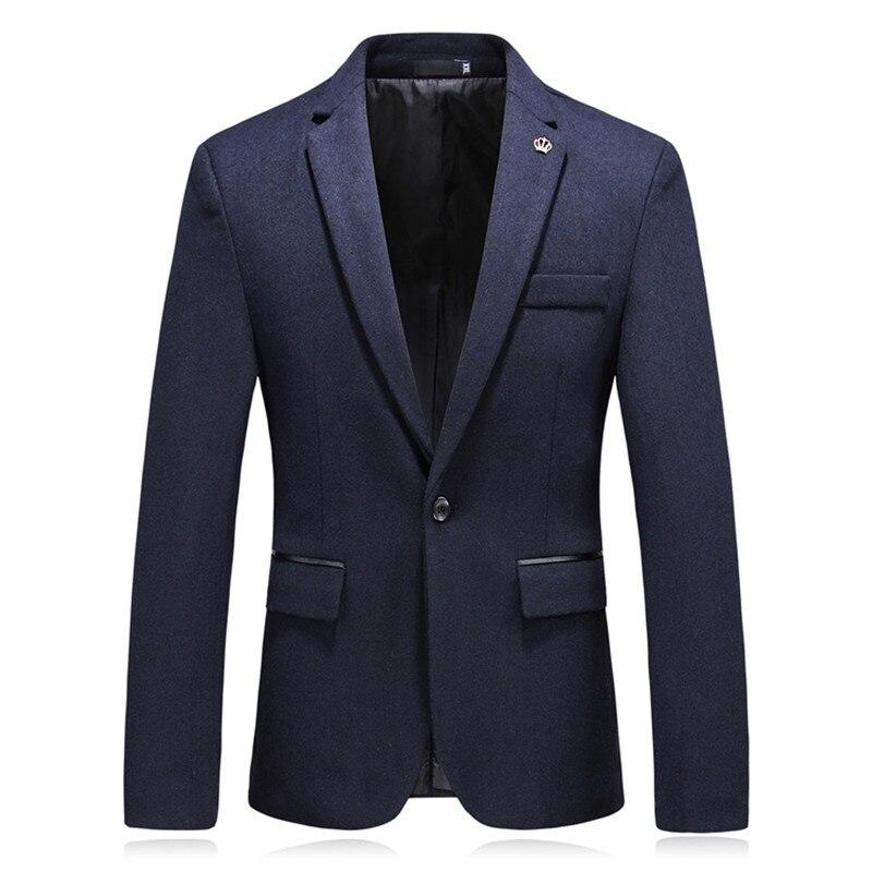 2018 mode décontracté Boutique affaires couleur unie robe costume/mâle Slim couronne imprimer costume Blazer veste manteau