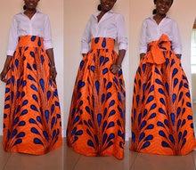 African Dresses For Women Women's Bust Skirt Of Tall Waist Of The Four Seasons Before Long After Short Print Dress Full-skirted