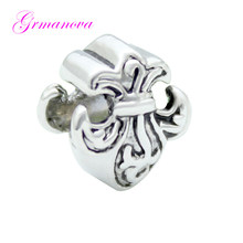 Zinc alloy plant flowers Europe and the United States charm beads DIY handmade jewelry amulet Fit Pandora Bracelet Necklace(China)