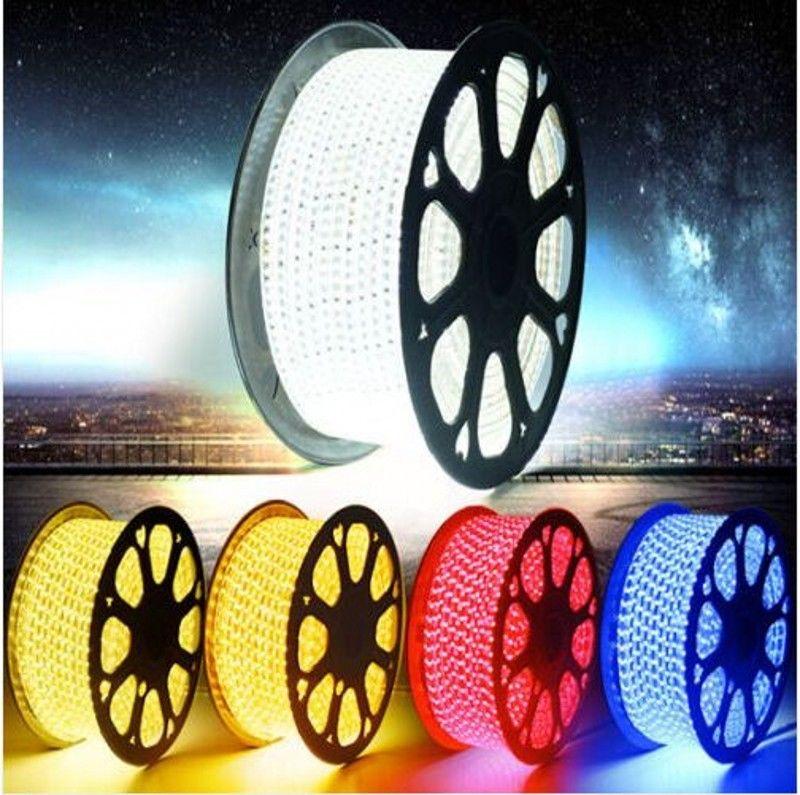 LED Strip RGB 5050 220V Waterproof Flexible LED Tape Light 220V Garden lamp Outdoor String 1M 2M 3M 4M 5M 10M 12M 15M 20M 25M