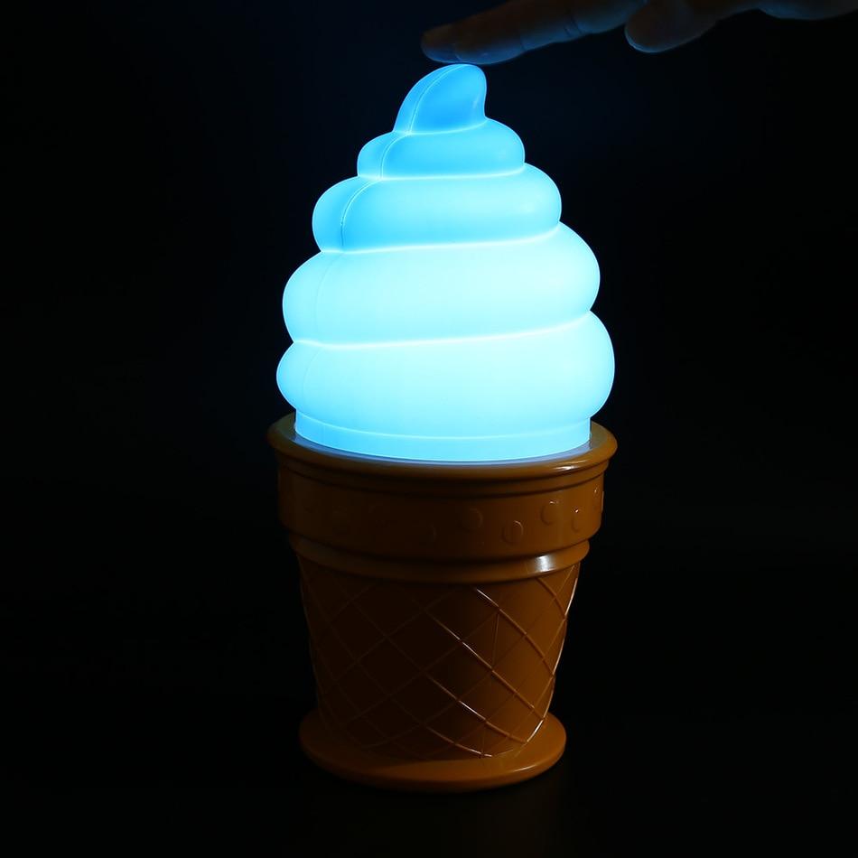 Novelty Ice Cream Lamp Led Lamp attractive Icecream Table Night Light for Children kids Desk Table LED Lamp Bedroom Decor Lights