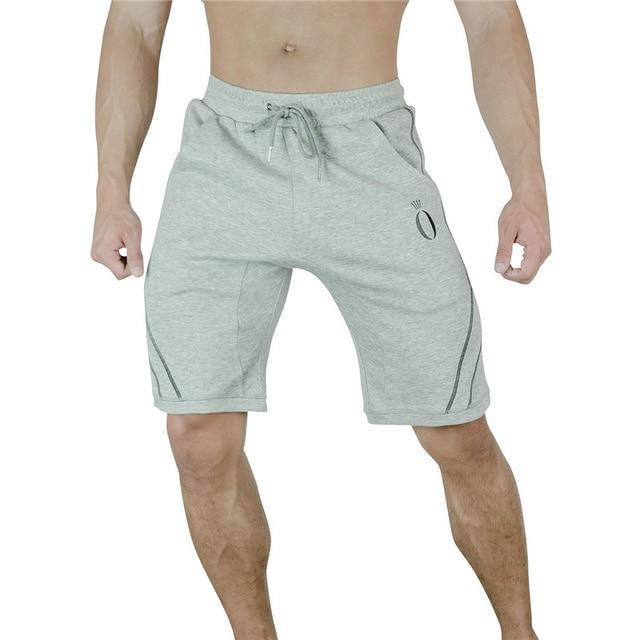 42ddbe89b9c96f Mens cotton shorts Summer new Casual Gyms Fitness Bodybuilding short pants  Man Jogger Knee Length Drawstring Sweatpants shorts
