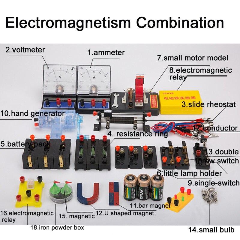 86 pièces nouveaux équipements d'expérimentation de physique de laboratoire ensembles complets pour la mécanique de l'électromagnétique optique - 2