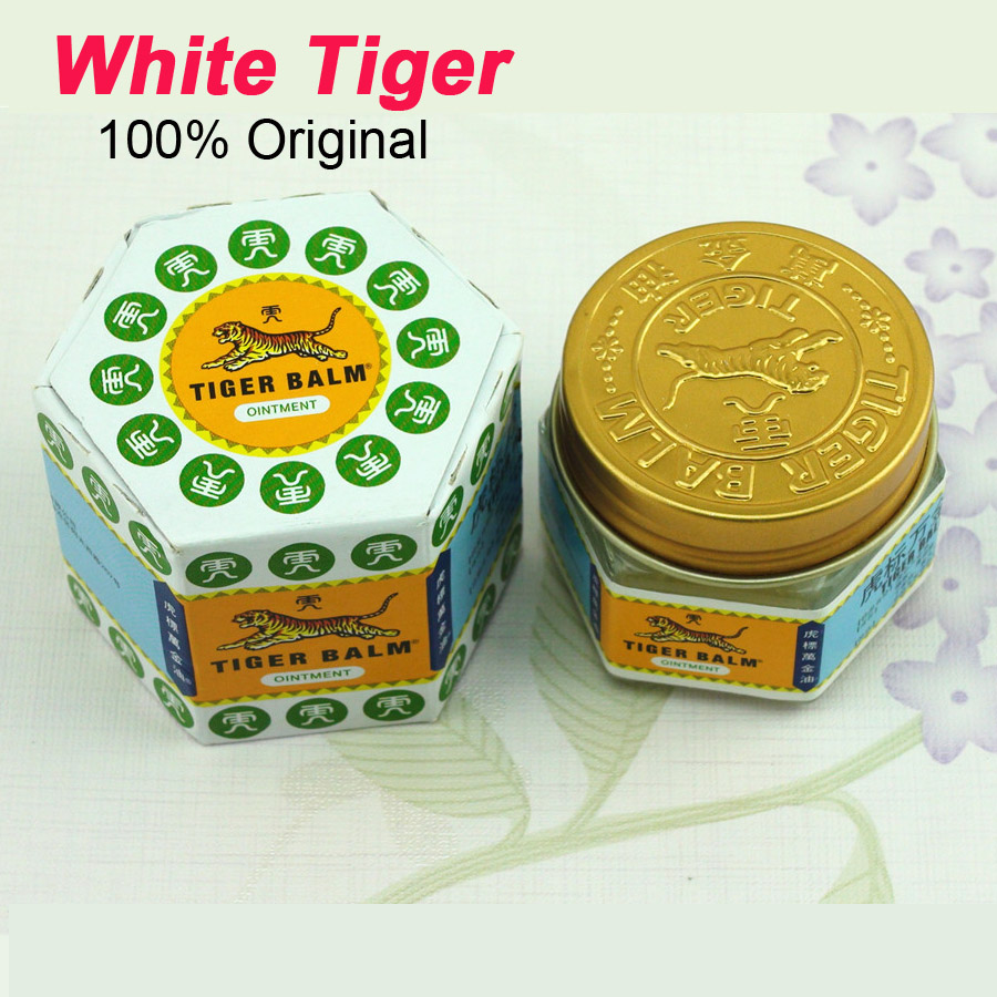 100% Natural Original White Tiger Balm Ointment Pain Killer Ointment Muscle Pain Relief Health Care Ointment Soothe Itch C102 natural remedy for joint pain prostate health devices perineum muscle stimulator