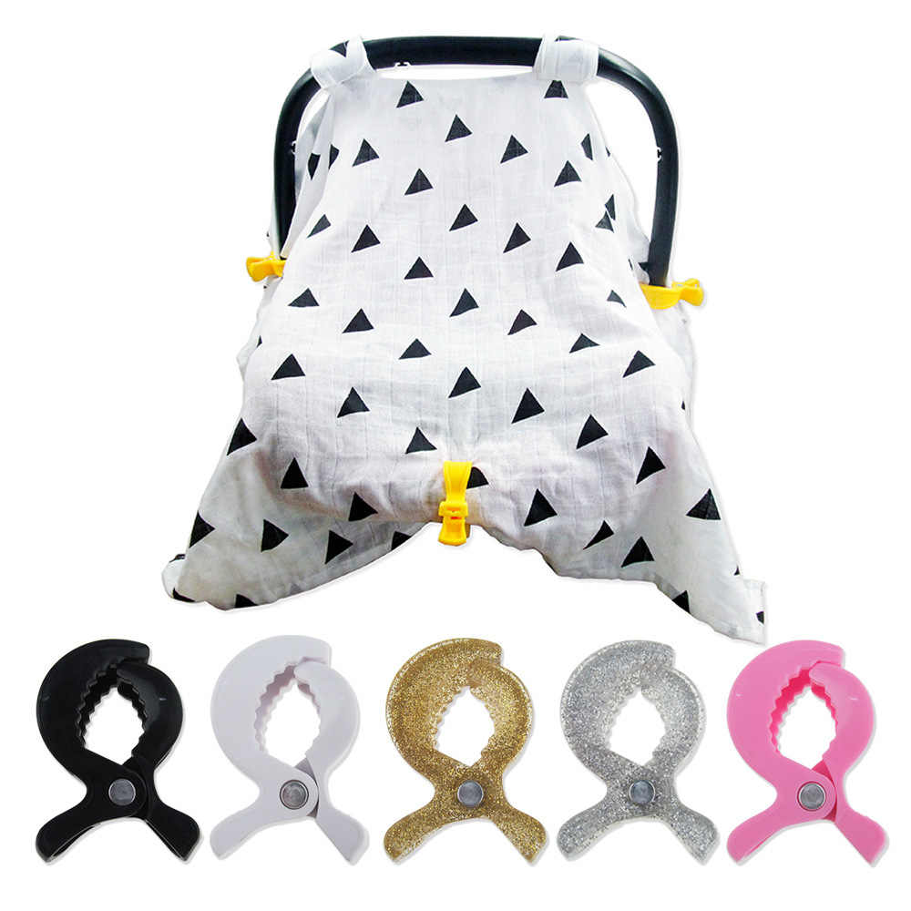 Baby Colorful Car Seat Accessories Plastic Pushchair Toy Clip Pram Stroller Peg To Hook Cover Blanket Mosquito Net Clips Blanke