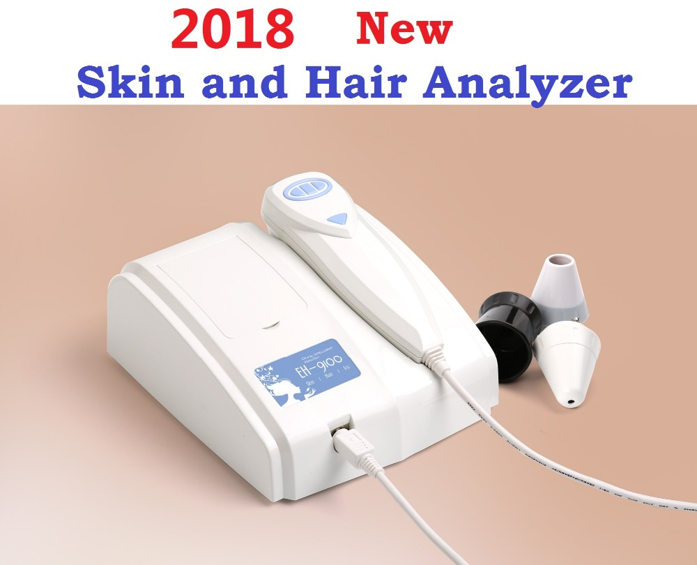 2018 Nieuwe 8,0 MP Hoge Resolutie Digitale CCD USB Multifunctionele UV Huid en Haar Analyzer Huidcamera Diagnose Skinscope DHLfree