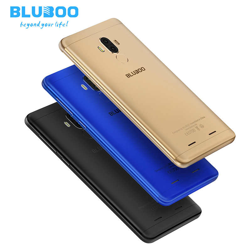 Bluboo D1 MTK6580A Quad-core 1.5GHz ROM 16G RAM 2G Android 7.0 OS 5.0 Inch Duad Back Cameras 8MP 2600mAh Smartphone