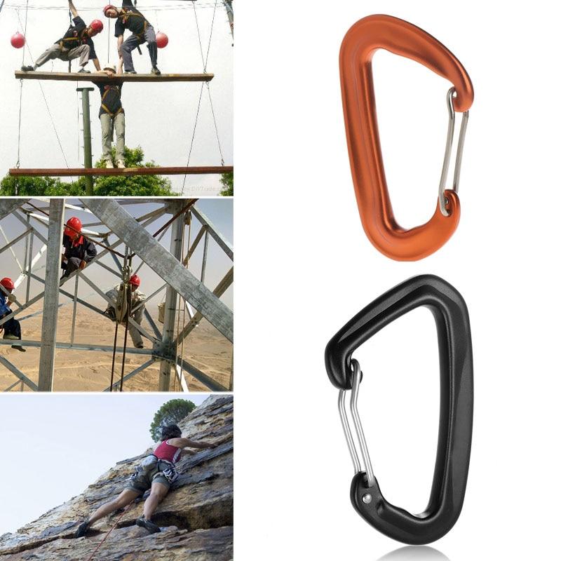 1pcs 12KN/2600lbs Safety Master Lock D Buckle Climb Lock Carabiner Rock Climbing Buckle Equipment Outdoor Accessories
