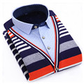 Invierno caliente nuevo mens jersey de punto patchwork Suéter Suéteres plus L-4XL Hombre Suéter espesar Delgada Ocasional masculina ropa de abrigo