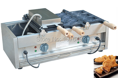 Hot Sale Commercial Use Non-stick 110v 220v Electric 6pcs Fish Waffle Baker Maker Machine hot sale 6pcs taiyaki commercial use non stick lpg gas fish waffle maker iron machine baker