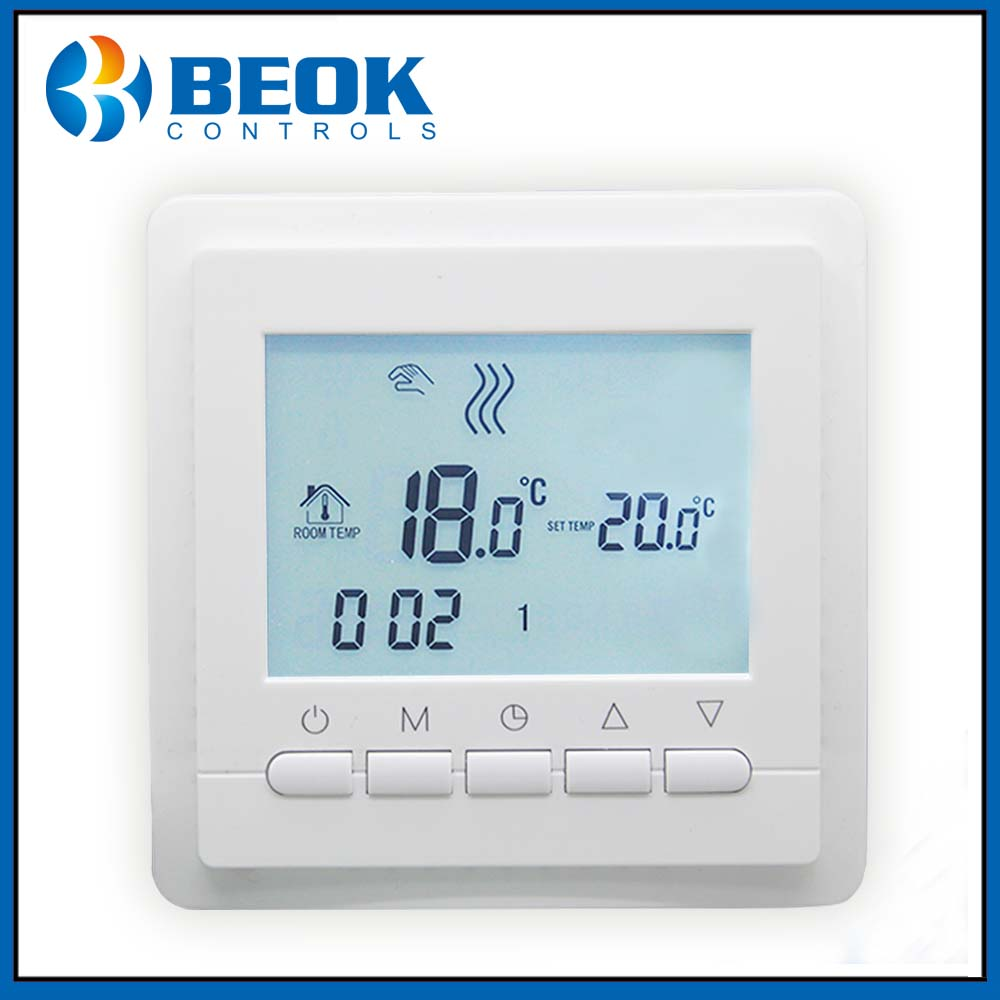 TOL43-EP 220V LCD Programmable Electric Digital Floor Heating Room Thermostat Blue Backlight Weekly Warm Floor ControllerTOL43-EP 220V LCD Programmable Electric Digital Floor Heating Room Thermostat Blue Backlight Weekly Warm Floor Controller
