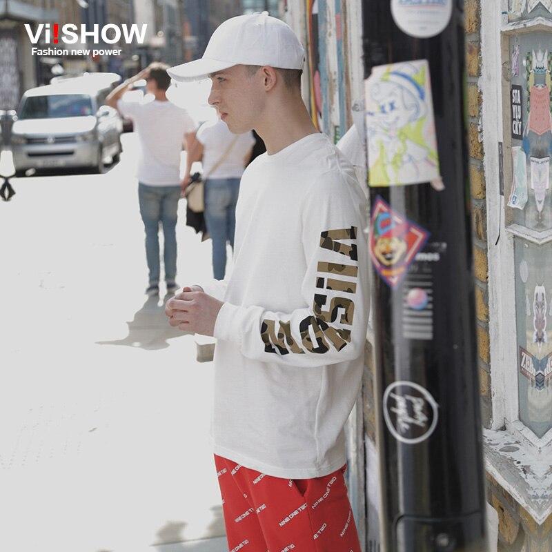 VIISHOW Hombre Camisetas de Manga Larga Hombre Moda Camisetas Hip Hop - Ropa de hombre - foto 1