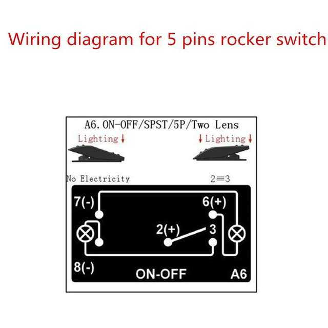 Iztoss Laser Red Led On Off Rocker Switch 20a 12v Offload Light Switch 5 Pins For Marine Rv Boat Car In Car Switches Relays From Automobiles