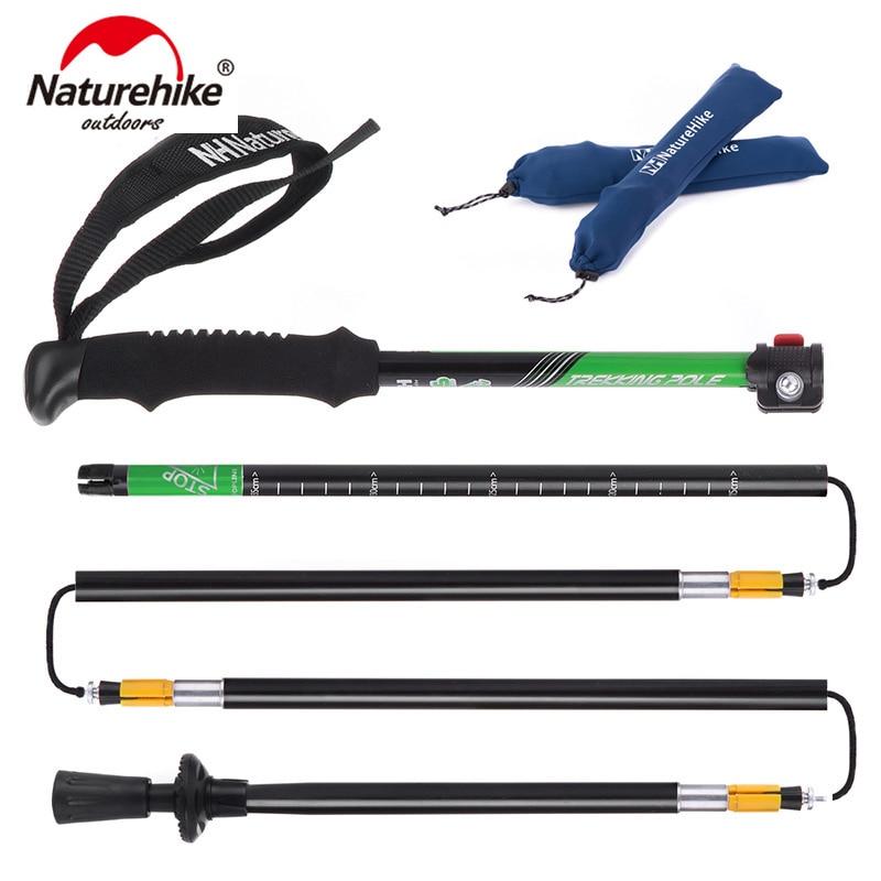 Naturehike ultra-leve eva alça 5-seção ajustável bastões de caminhada trekking pólo alpenstock para exterior 1 pc NH15A023-Z