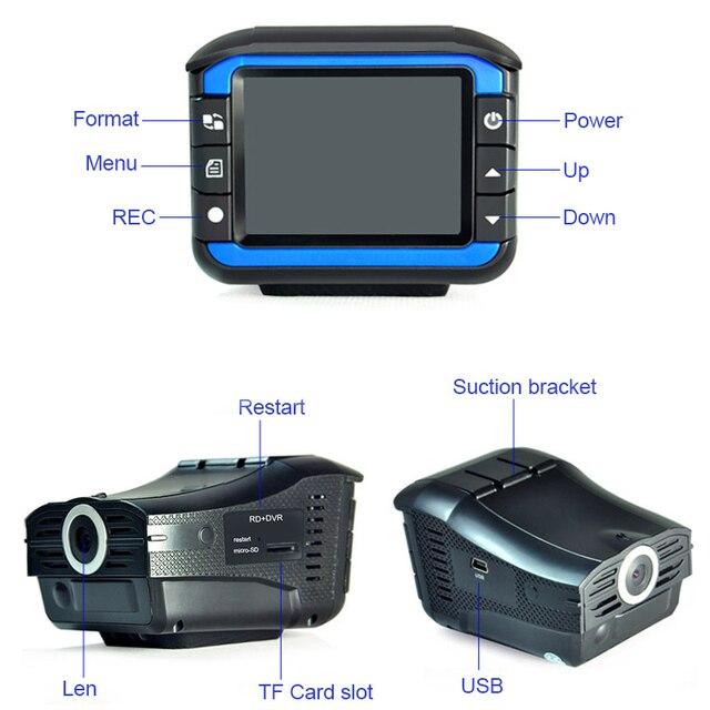2018 Auto Portable Radar Detectors with DVR Dash Cam Vehicle Anti Police Speed Control Safety Voice Alarm 2in1 Radar Detection