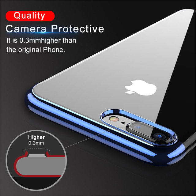 separation shoes 2b682 a23c8 US $1.58 |Aliexpress.com : Buy Case For iPhone X 10 Transparent Ultra Thin  Silicone Cover For iPhone 8 7 6 6S Plus Phone Accessories from Reliable ...
