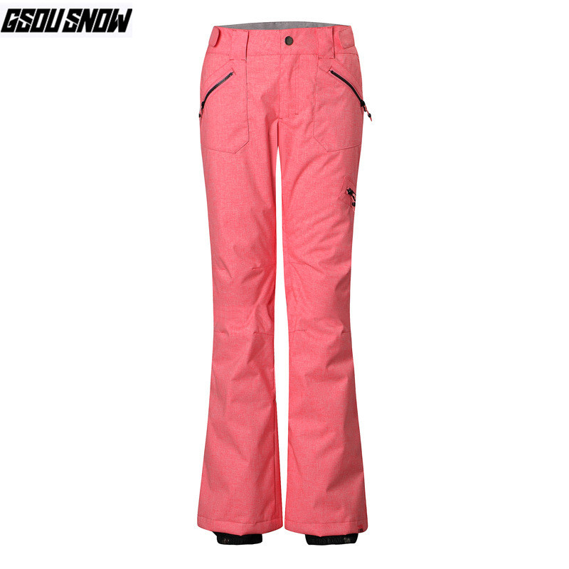 GSOU SNOW Brand Ski Pants Women Snowboard Pants Waterproof Skiing Snowboarding Trousers Winter Outdoor Sports Warm Snow Trousers womens white ski pants female black snowboarding riding snow pants outdoor colorful sports trousers waterproof breathable warm