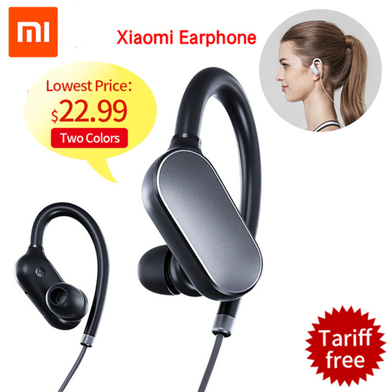 Original Xiaomi Mi Bluetooth Earphone Headset With Mic Sports Wireless Earbuds Bluetooth 4.1 Waterproof Xiaomi fone de ouvido original xiaomi mi sports bluetooth 4 1 headphones music earphone mic ipx4 waterproof wireless headset for mi6 fone de ouvido