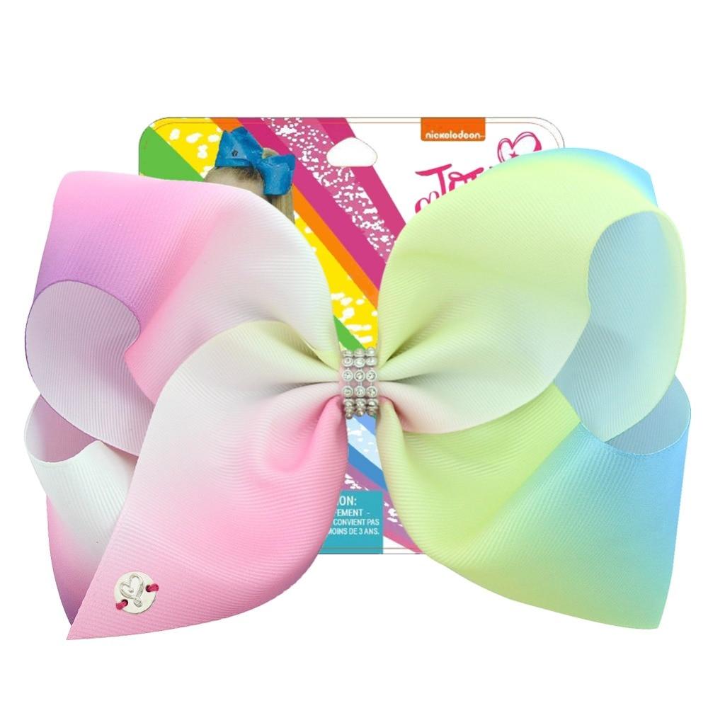New Jojo Siwa Large Bow Multicolor Rainbow