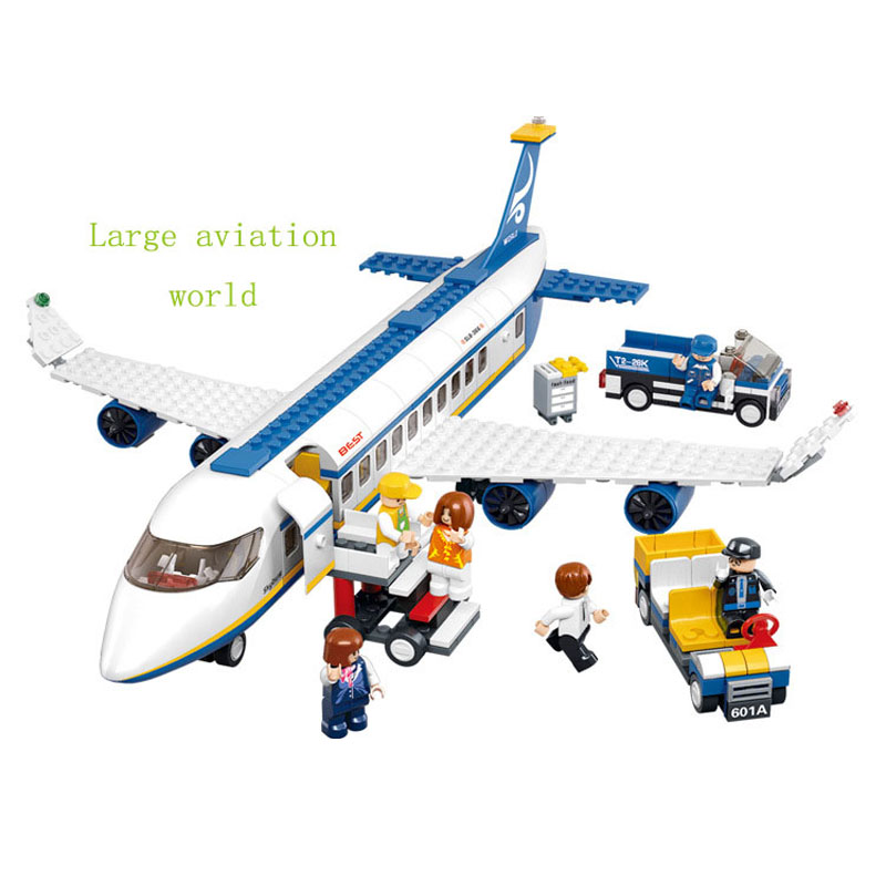 Sluban 483pcs Air Plane Passenger Airport Building Blocks Sets Model Bricks Toys For Children s Minifigure
