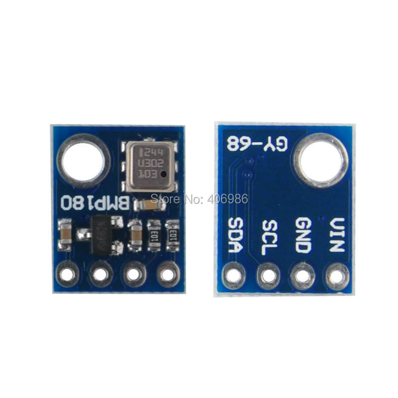 5PCS/LOT  GY-68 BMP180 Digital Barometric Pressure Sensor Module Board Breakout Board for Arduino