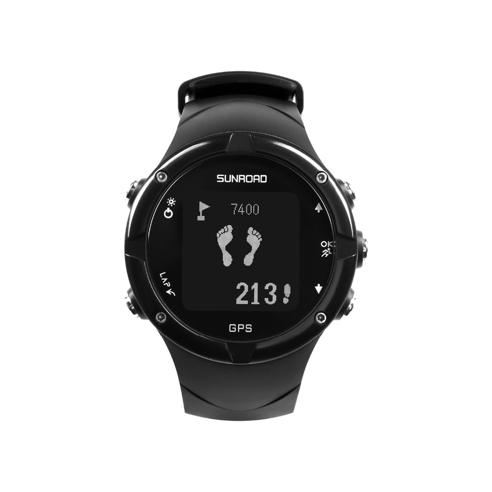 SUNROAD Men Sports GPS Waterproof Digital Wristwatch with GPS Pedometer Altimeter Running Swimming Measurement Sports Clock