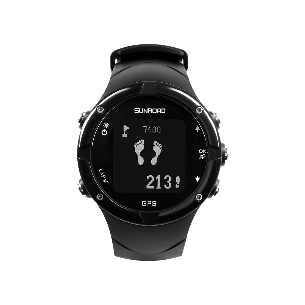 SUNROAD Men Sports GPS Waterproof Digital Wristwatch with GPS Pedometer Altimeter Running Swimming Measurement Sports Clock