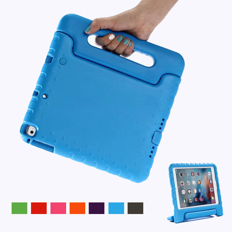 For IPad 6th Generation Case Kids Shockproof Eva Portable Handle Hand Holder Cover For Ipad 2018 Case 9.7 Air 2 Air 1 Fundas(China)