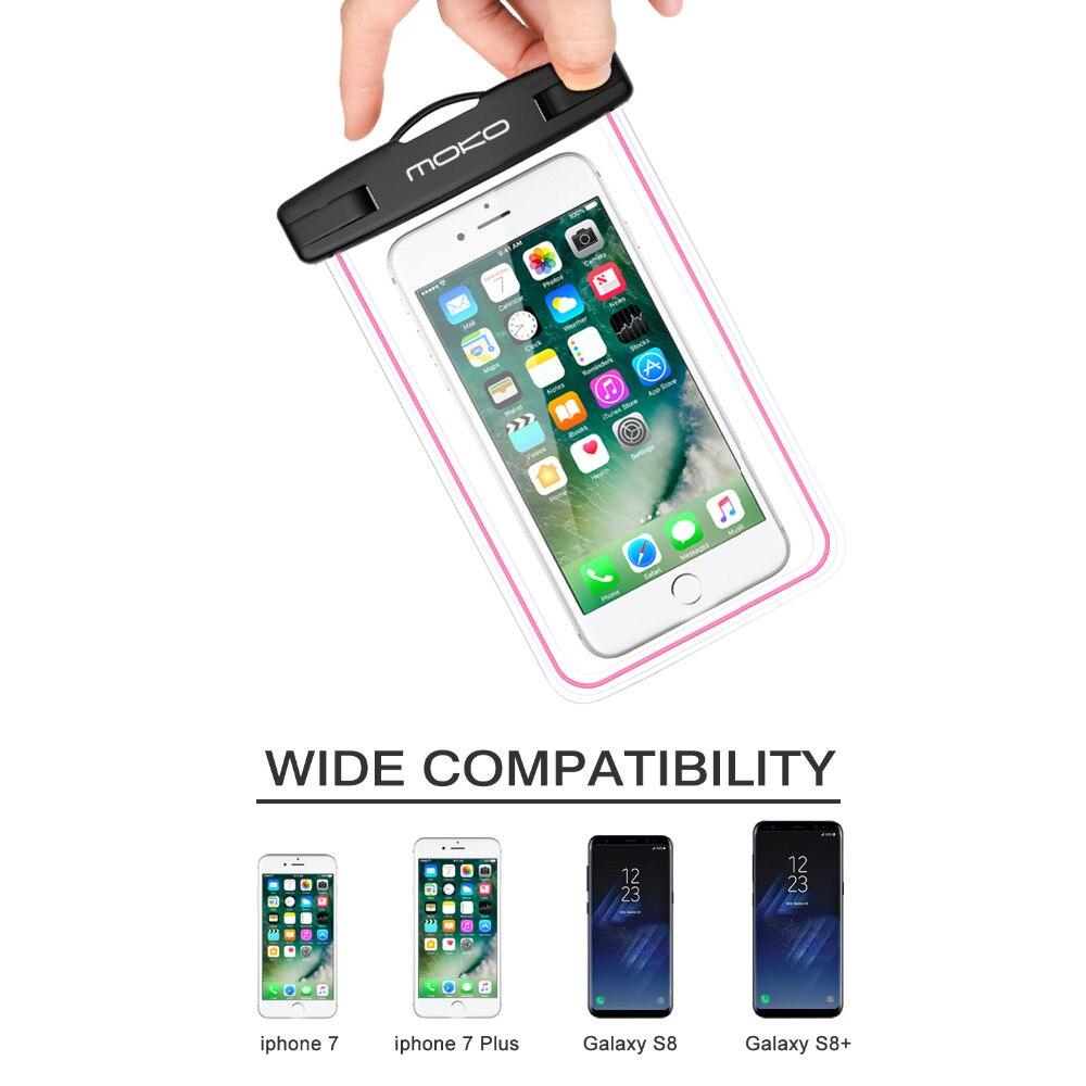 Universal Boîtier Étanche, MoKo Sous-Marine Téléphone Portable Sec Sac Pochette pour iPhone X/8 Plus/8/7/6 s Plus, Galaxy S8 +/S8, Honneur et Plus