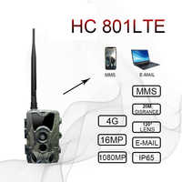 Cámara 4G Trail cámaras de vigilancia de caza salvaje HC-801LTE 16MP 0,3 S disparador infrarrojo con antena cámaras de leva salvaje