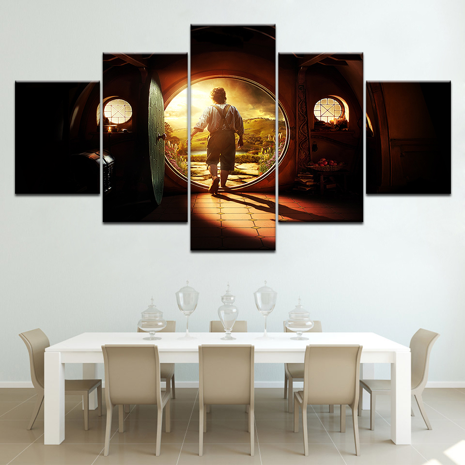 The Hobbit An Unexpected Journey 5 Piece Canvas Wallpapers modern - Huisdecoratie