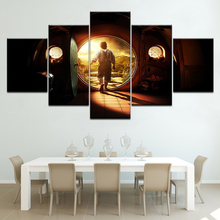 The Hobbit An Unexpected Journey 5 Piece Canvas Wallpapers modern Poster Modular art painting for Living Room Home Decor candace camp an unexpected pleasure