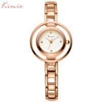 KIMIO 여성 드레스 시계 여성 석영 시계 패션 브랜드 여성 팔찌 시계 스틸 시계 2017 뜨거운 소녀 선물 시계