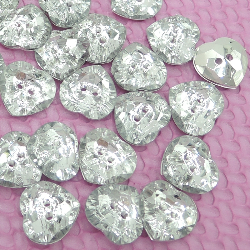 Cariño Plata Ennegrecido Botones De Metal En Forma De Corazón