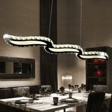 Современная подвеска Кристалл световой волны светодиодный хрустальные люстры длинные висячие лампа светильник для столовой Кухня River Island