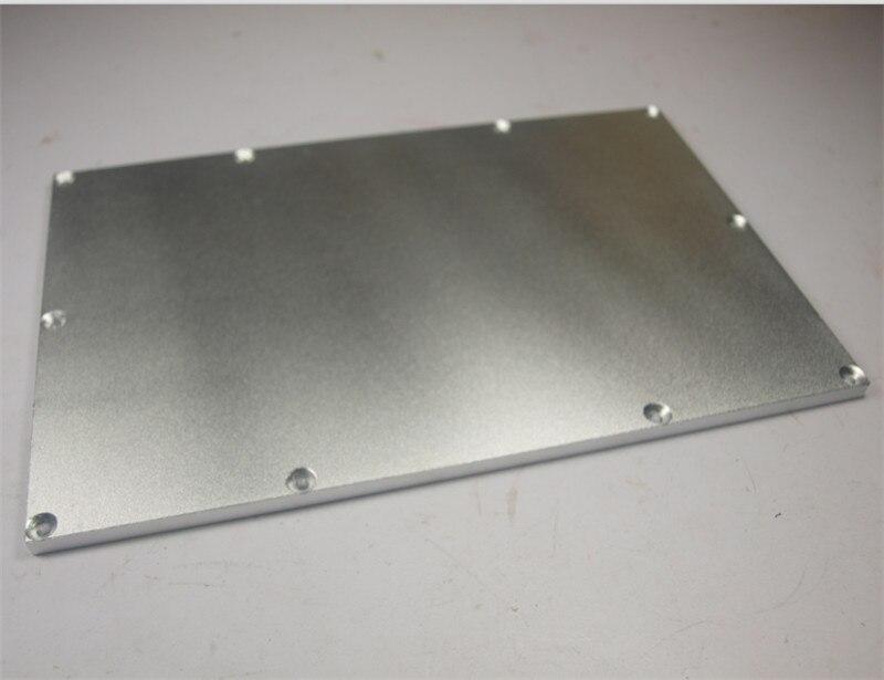 ФОТО super flat 6 mm Aluminum alloy Buildplate for MK Replicator Wanhao Flashforge CTC 3 D printer