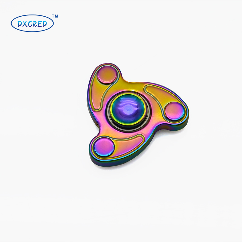3 colors Hot-sale product Hand Spinner Voor Stainless steel Fidget Spinner for autisme and adhd anti stress ADHD Hand Spinner