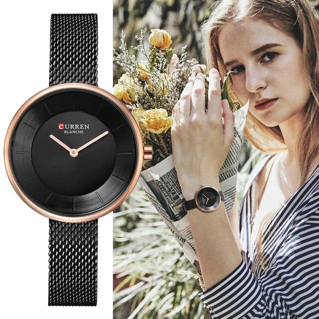 c654d4d83ef CURREN New Mulheres Relógios Top Marca de Luxo Da Moda Senhoras Relógio de  Quartzo de Aço
