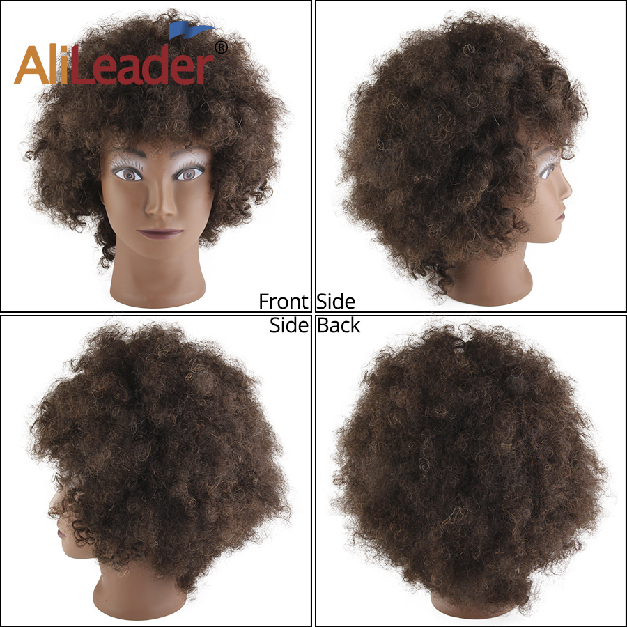 1 Pc Doll Head Fashion Flaxen Short Hair Students Head Wigs For  Doll new