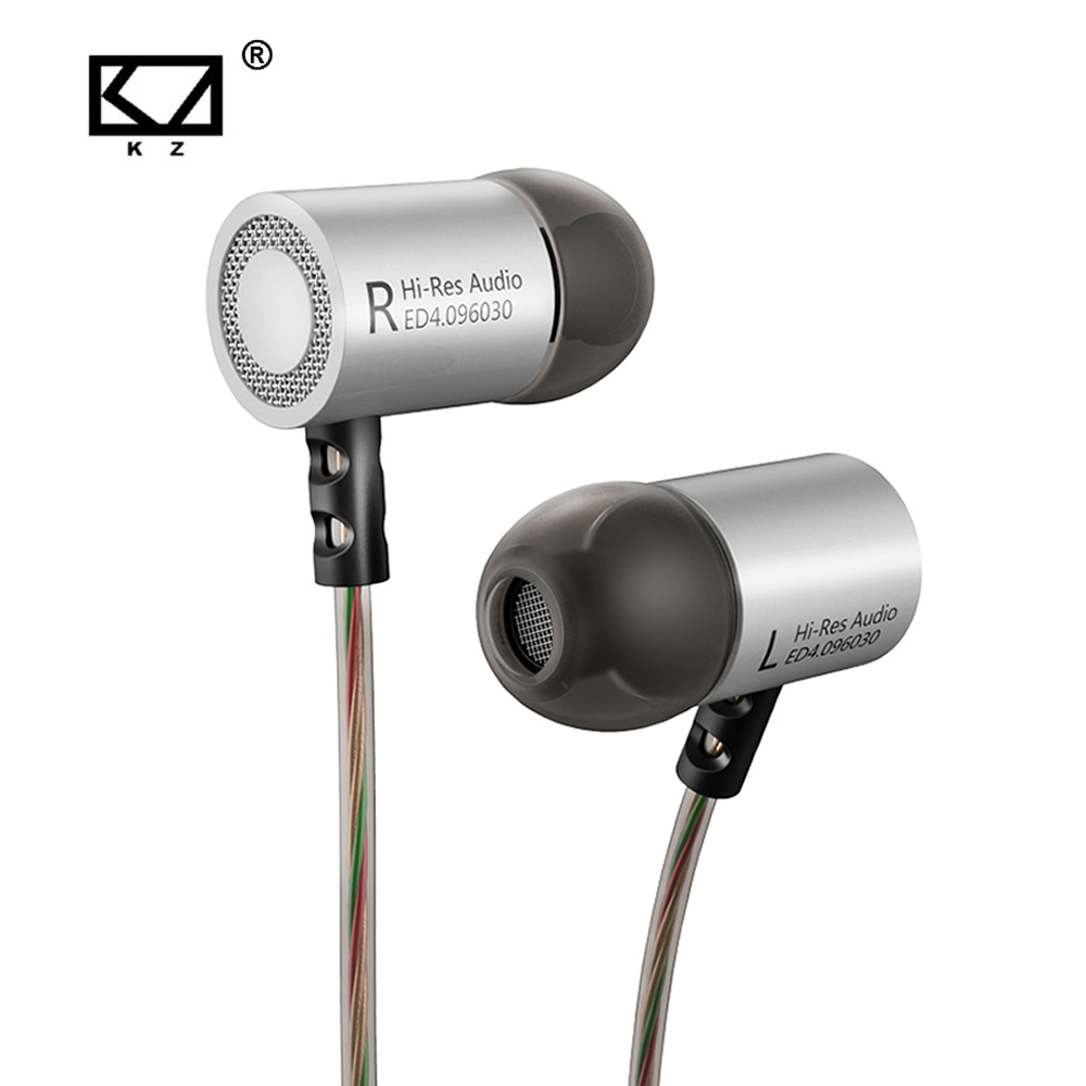 KZ ED4 Metal Stereo Earphone Noise Isolating In-ear Music Earbuds with Microphone HIFI Headset For Mobile Phone super bass in ear sport earphone with microphone hifi stereo noise isolating music earphones headset for mobile phone iphone mp3
