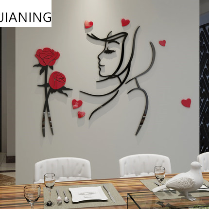 Rose Wall Decor compare prices on rose wall decor- online shopping/buy low price