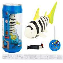 Create Toys 3310B 3CH 4 Way RC Shark Fish Boat 27/40Mhz Mini Radio Remote Control Electronic Toy Kids Children Birthday Gift(China)
