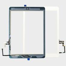 """20 adet/grup Yedek 9.7 """"Dokunmatik ekran Digitizer Cam için ipad Hava 1st Genreation Ev Düğmesi Ile A1474 A1475 A1476"""