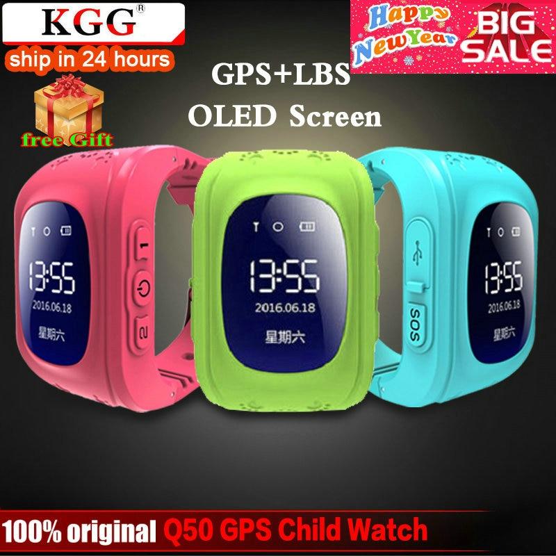 KGG Anti Lost Q50 OLED Child GPS Tracker SOS Smart...