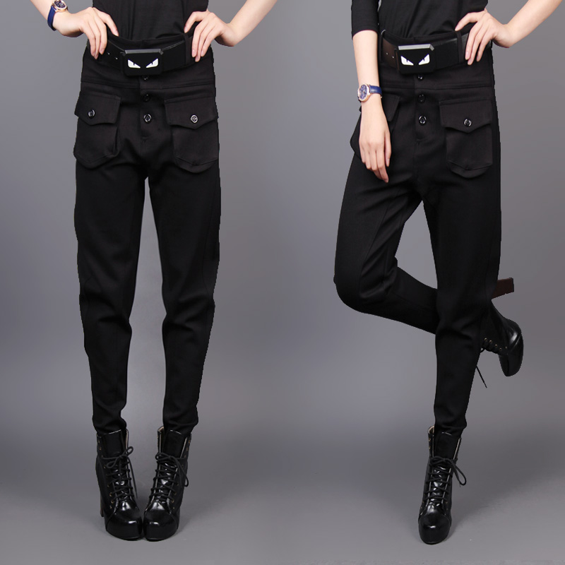 Fashion Winter Women Clothing stretch cotton Skinny harem pants female black trousers boot cut jeans banana pants casual pants