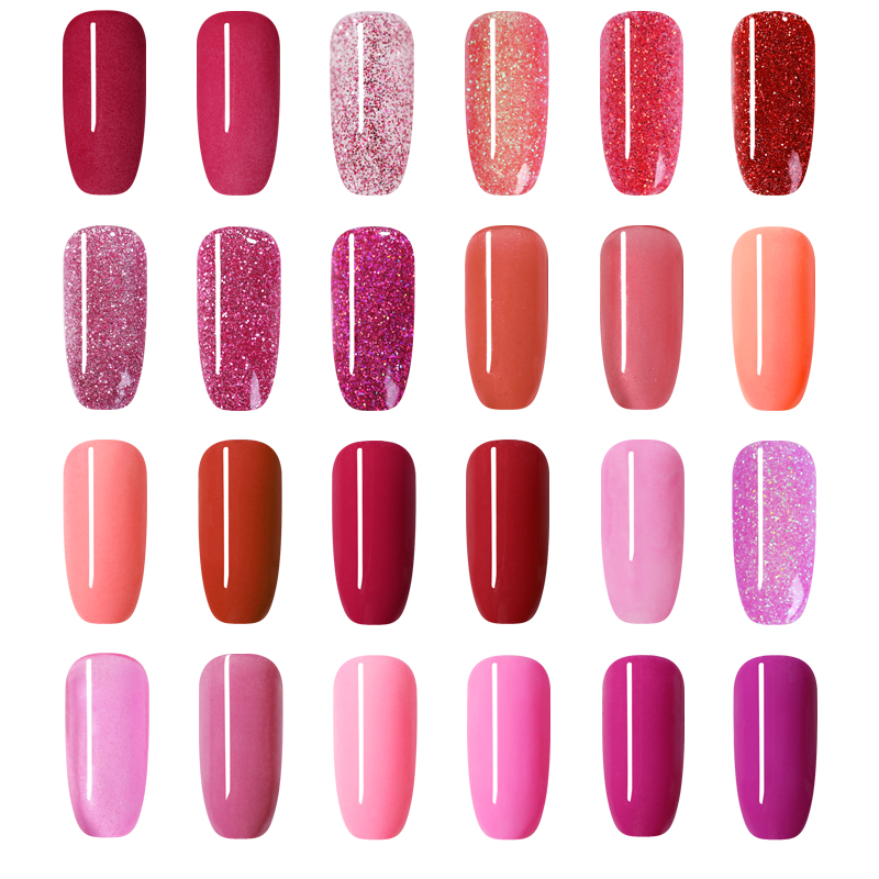 Image 3 - NICOLE DIARY 10g Red Series Dipping Nail Powder Gradient Shinning Glitter Natural Dry Manicure Art Dust Chrome Decoration-in Nail Glitter from Beauty & Health