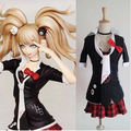 Free Shipping Dangan Ronpa Anime Cosplay Enoshima Junko uniform womens  cosplay custome