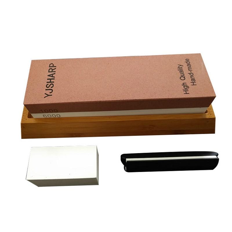 1000 6000 Set Corundum Sharpening Stone Whetstone Kitchen Knife Sharpener Household Tool h1-in Sharpeners from Home & Garden    1